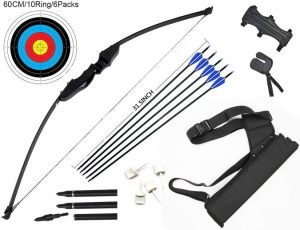 DOSTYLE Archery Takedown Recurve Bow and Arrow Set for Hunting